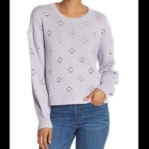 Madewell lilac floral pointelle sweater - XXL NWT